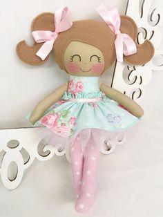 Fabric Dolls Handmade Doll Rag Doll by SewManyPretties on Etsy