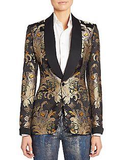 Ralph Lauren Collection Sawyer Brocade Silk Jacket