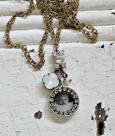 Vintage Baby Love Charm Necklace