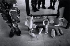 Army prosthetics in a military hospital in a San Miguel military compound. Salvadoran Civil War, Army, Military, San Miguel, El Salvador, Gi Joe, Military Man, Armies
