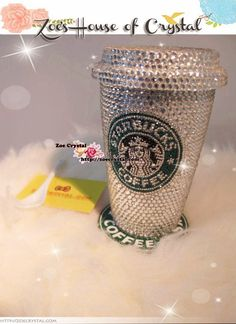 Winter Sale- Stylish BLING CRYSTALLIZED Starbucks MUG - for Drink or Decoration