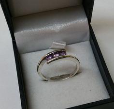 186 mm Ring Silber Kristallsteine flieder SR568 von Schmuckbaron