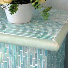 seaglass side table