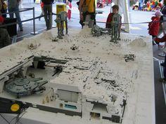 The battle of Hoth and the underground rebel base made out of legos