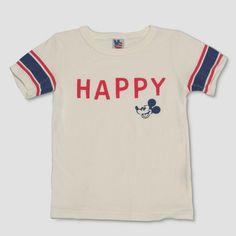 e657c09097ab Junk Food Toddler Boys' Disney Mickey Mouse 'Happy' Short Sleeve T-Shirt