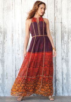Peasant Style Maxi Dress