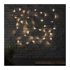 IKEA - SKRUV, LED light chain with 48 lights, , You can personalize the light chain to match the season or your style. Just add the decorations of your choice and change them any time.Gives a warm, cozy glow and spreads the holiday atmosphere outdoors, around your patio, terrace or balcony.The LED light source consumes up to 85% less energy and lasts 20 times longer than incandescent bulbs.