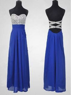 Sparkle Royal Blue Sequins Sweetheart Long Prom Dresses 2015, Long Prom Gown, Evening Dresses