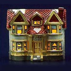"""Department 56: Products - """"Lincoln Park Duplex"""" - View Lighted Buildings"""