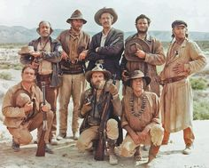 In one of his most memorable roles in his lengthy career in Western film and television, L.Q. Jones was cast as bounty hunter T.C. (standing, right) in Sam Peckinpah's epic ensemble film The Wild Bunch (1969).Courtesy Warner Bros./Seven Arts Western Film, Western Movies, Ride The High Country, Bo Hopkins, Strother Martin, Warren Oates, The Mask Of Zorro, Eight Movie, Sam Peckinpah