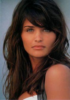 Helena Christensen- dark hair, green eyes, great bone structure, full lips, absolutely gorgeous!
