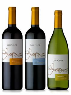 Los clop wines label design