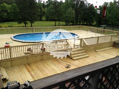 Getting The Most Out Of A Deck With Patio Designs – Pool Landscape Ideas Oval Above Ground Pools, Best Above Ground Pool, In Ground Pools, Patio Plan, Pool Deck Plans, Swimming Pools Backyard, Swimming Pool Designs, Backyard Pool Landscaping, Landscaping Ideas