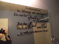 write scripture on mirror with dry erase pen.