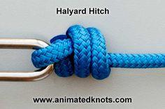Animation: Halyard Hitch Tying (Boating)