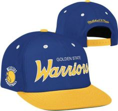 Golden State Warriors Mitchell   Ness The Script Is In 2-Tone Snapback Hat  by 985ffe6ad9fb