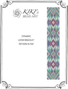 Bead loom pattern - Dynamic LOOM bracelet pattern in PDF - instant download
