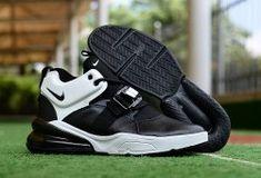 Nike Air Force 270 Black White Metallic Silver AH6772 006 Men s Running  Shoes 577b04f64