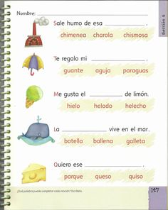 Archivo de álbumes Spanish Lessons, Learning Spanish, Spanish Sentences, Elementary Spanish, Bilingual Education, Reading Comprehension, Activities For Kids, Album, Writing