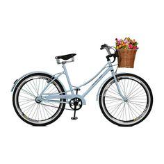 36655f38e Bicicleta Master Bike Aro 26 Feminina Bella Retro Branco Azulado