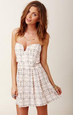 Myne Chandler Strapless Dress