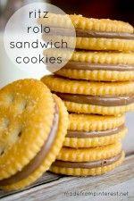 Ritz Rolo Sandwich Cookies.  Two ingredients.  Five minutes!