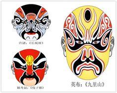 Chinese opera - opera character mask Chinese Opera Mask, Chinese Mask, Types Of Facials, Chinese Element, Mask Images, China, Alphabet, Masks, Beijing