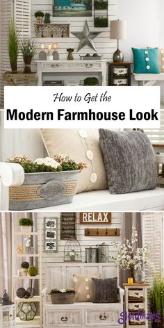 Find ways to decorate your home with modern farmhouse decor. This style is beautiful for all homes and will add that country look to any room.