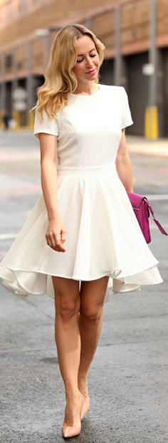 white high low summer dress