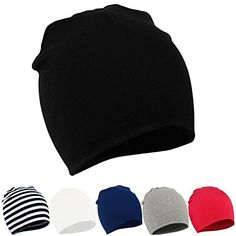 Century Star Unisex Lovely Cotton Beanie Hats For Cute Baby Boy Girl Soft  Toddler Infant Cap F Black White Stripe Red Grey Navy Blue S d87118fed816