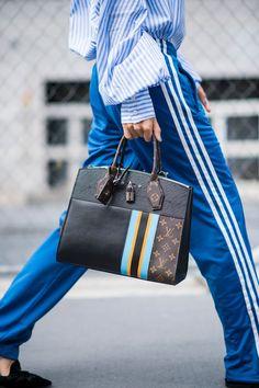 Louis Vuitton 'City Steamer MM' bag | #NYFW Spring 2017 #StreetStyle