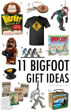11 Fun Bigfoot Gift Ideas for the Sasquatch Fan Bigfoot Birthday, Bigfoot Party, Bigfoot Sasquatch, Bigfoot Pics, Finding Bigfoot, Lumberjack Party, Leather Pillow, Baby Birthday, Best Part Of Me