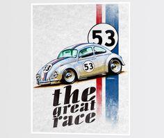 Poster - Ilustração A Grande Corrida por Leonardo Castilho