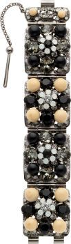 Luxury Accessories:Accessories, Chanel Fall 2008 Beige & Black Gripoix Bracelet. ...