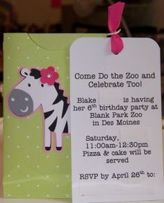 love the tag style as an invite
