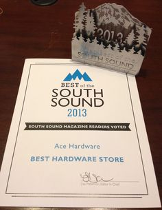 Ace Hardware just voted Best Hardware store in the South Sound. In South Sound Magazine. Ace Hardware, Thankful, Magazine, Store, Larger, Magazines, Shop, Warehouse, Newspaper