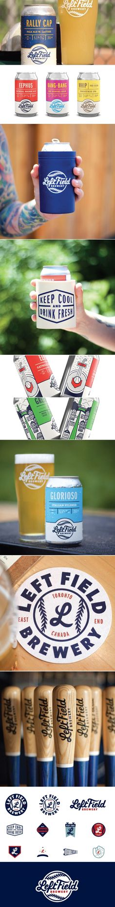 CODO Design's Work For Left Field Brewery is a Home Run | Dieline