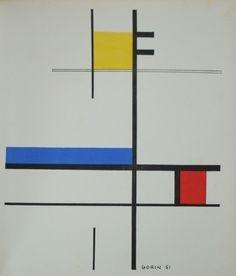 Jean Gorin, Témoignages pour l'art abstrait, pochoir proposed by Vintage Gallery for sale on the art portal Amorosart