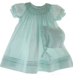 Hiccups Childrens Boutique - Girls Mint Green Smocked Take Home Dress Set, $39.00 (http://www.hiccupschildrensboutique.com/girls-mint-green-smocked-take-home-dress-set/)