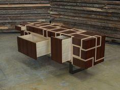 Wooden sideboard with drawers KUBINA - Atelier MO.BA.