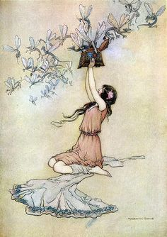 Fairies From a Box--Water Babies--Warwick Goble