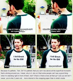 [GIFSET] Priestly tells Tish off- Jensen as Boaz Priestly in #TenInchHero #Jensen
