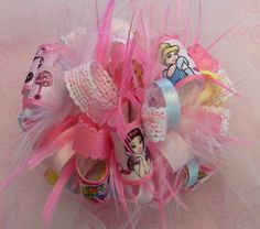 Princess Inspired Loopy Bow by HodgePodgeBowtique on Etsy, $8.50