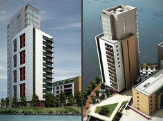and Architectural Visualisation Skyscraper, Multi Story Building, Architecture, Arquitetura, Skyscrapers, Architecture Design