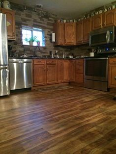 5mm Rustic Acacia Click Vinyl   Before And After :: Lumber Liquidators