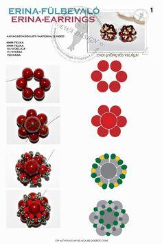 Tutorial:  http://ewagyongyosvilaga.blogspot.com/2011/10/erina-medal-minta-erina-pendant-pattern.html Készítette: Ewa   (Itt a további be...