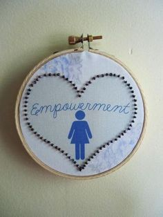 Feminist Fiber Art Collage Empowerment Womens by stitchingbevy, $25.00