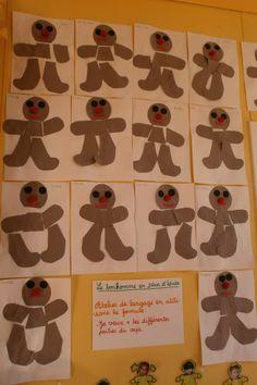 bonhomme PS - next picture Preschool Christmas, Christmas Activities, Petite Section, Amai, Gingerbread Man, Pumpkin, Ps, Recherche Google, Album