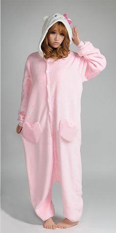 c120c95ea Pink Hello Kitty Adult Onesie Kigurumi....i die