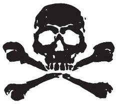 skull and crossbones stamp